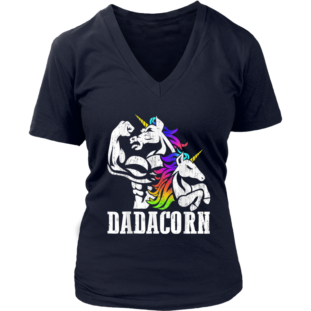 Funny Dadacorn Unicorn Muscle Dad and Baby shirt