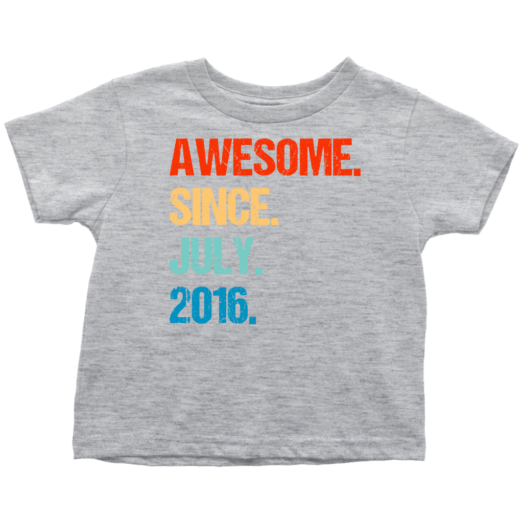 Awesome Since July 2016 3rd Birthday Gift 3 Years Old Shirt