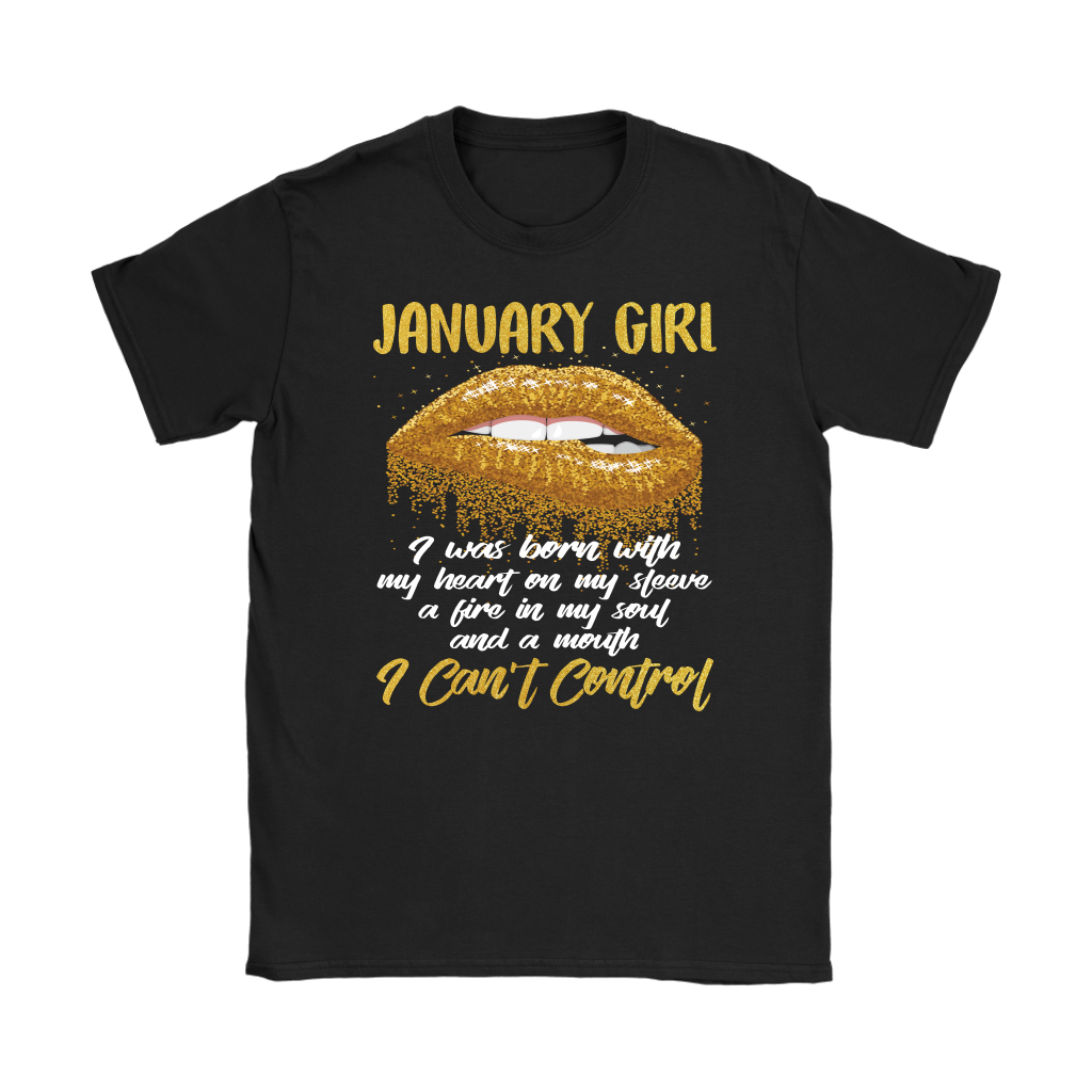 Birthday January Girl I Was Born With My Heart On My Sleeve shirt