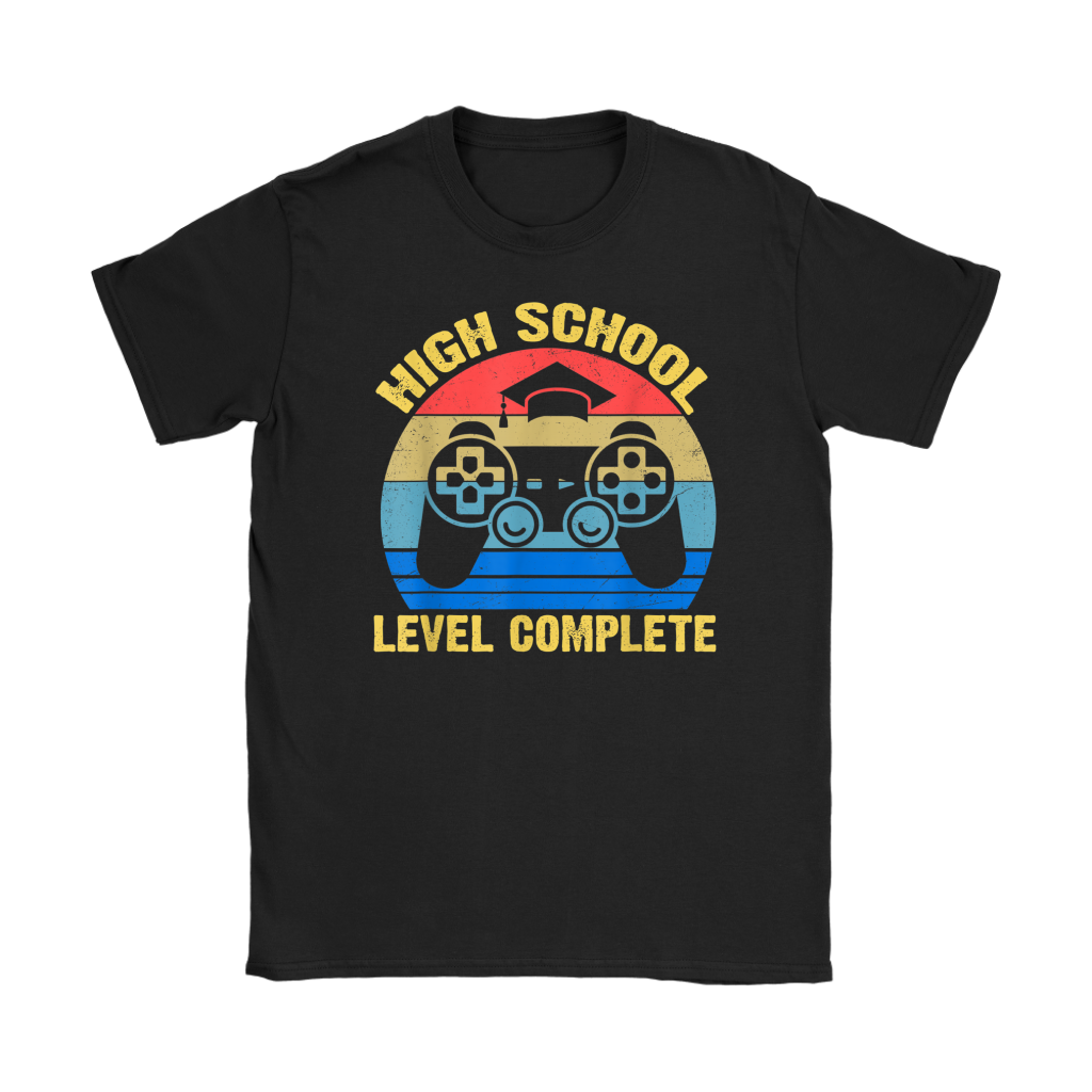 2019 High School Level Complete Graduation Shirt Gamer Funny