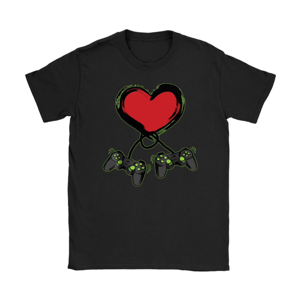 Video Gamer Heart Controller Valentine's Day shirts