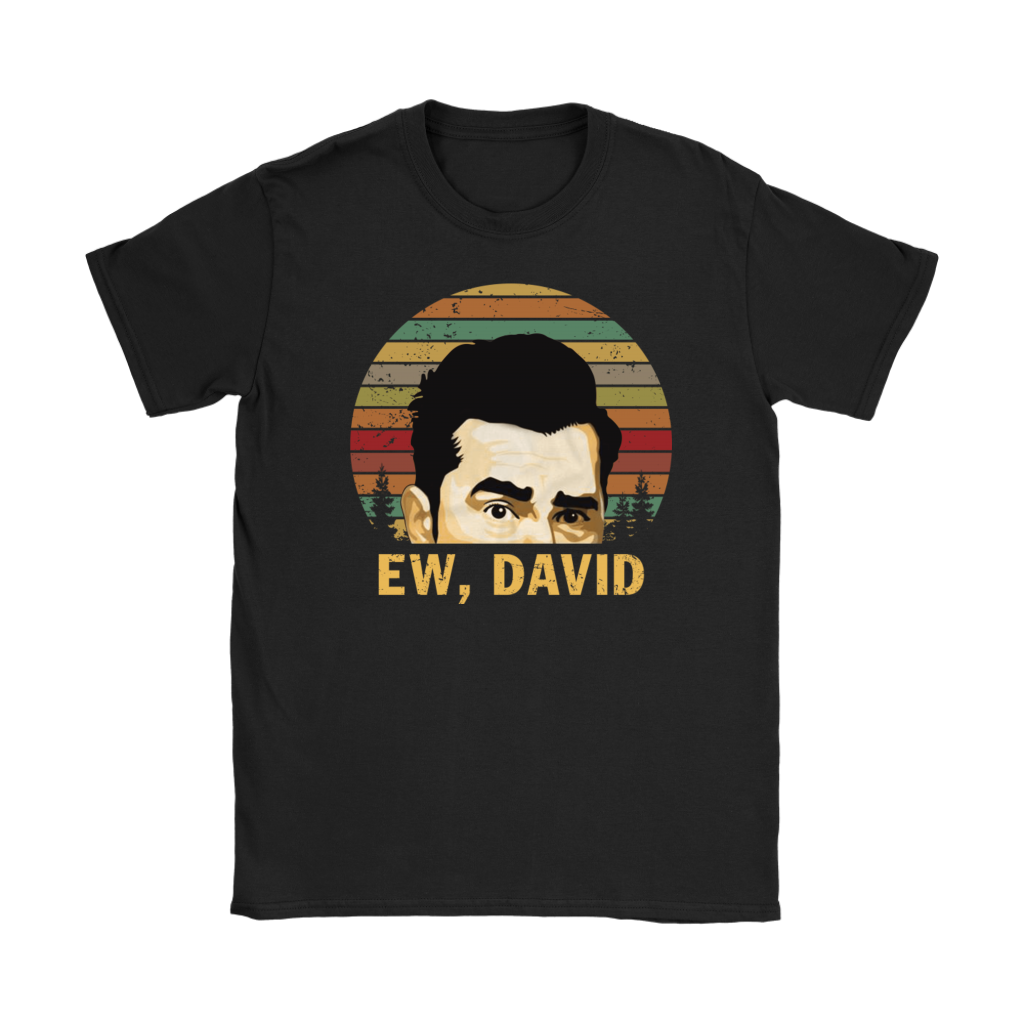 Retro Sunset Ew David Rose T-Shirt Vintage