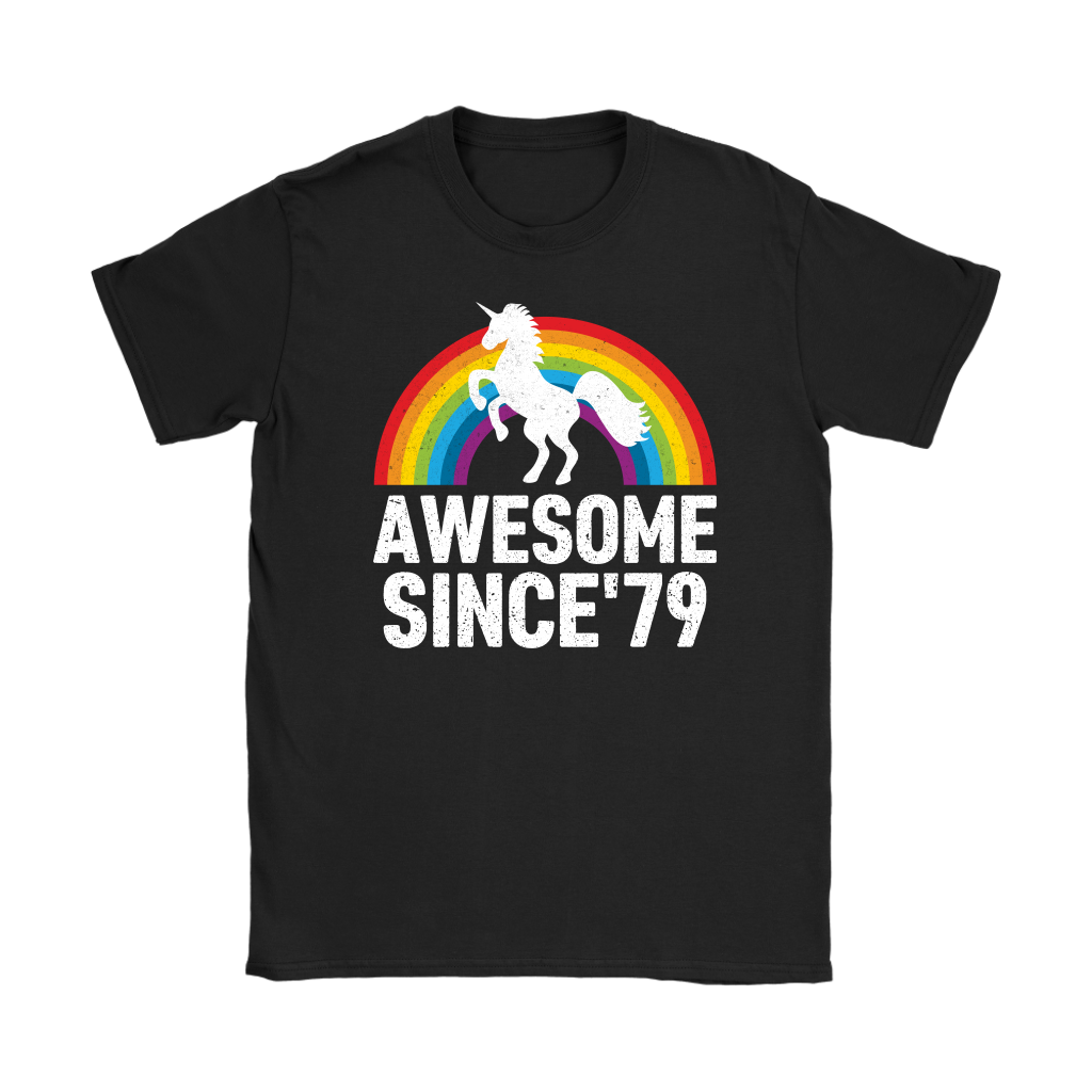 Rainbow Unicorn Awesome Since 79 41th Birthday 1979 41 Years Olds shirts