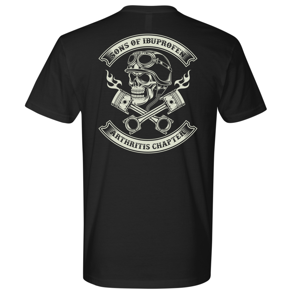 Sons of Ibuprofen Arthritis Chapter helmet head shirt funny bikers