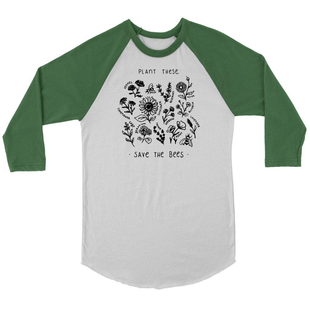 Plant These Save The Bees Flowers T Shirt