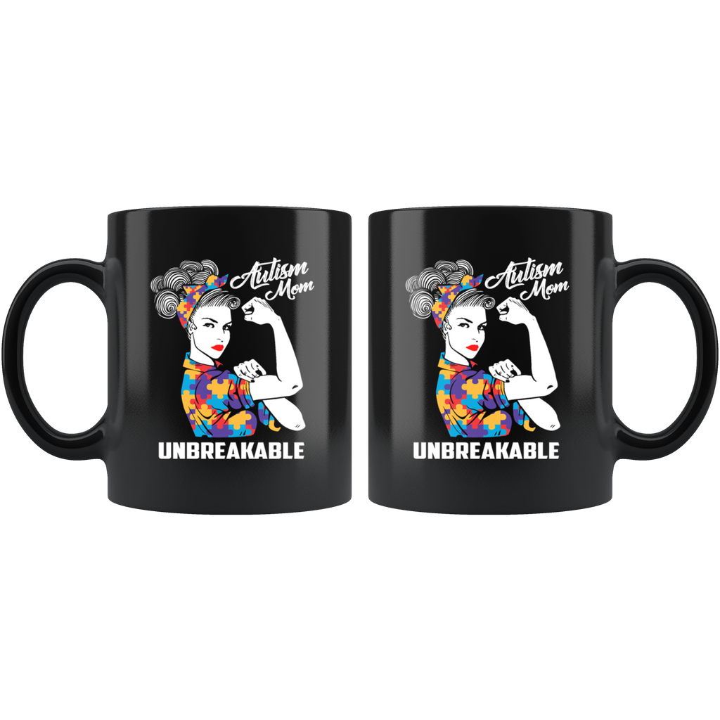 Autism Mom Unbreakable Mug Strong Mom Autism Awareness Gift