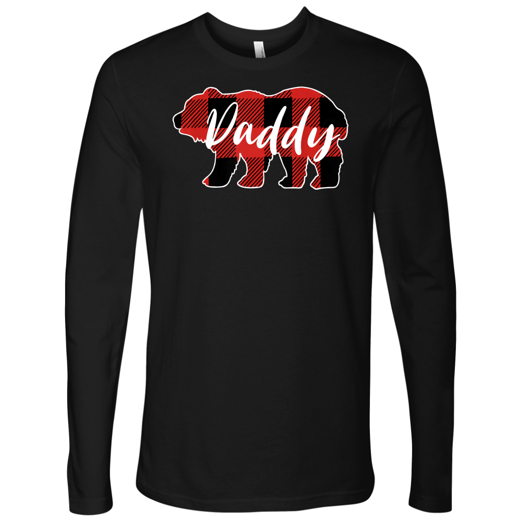 Buffalo Plaid Daddy Bear T Shirts
