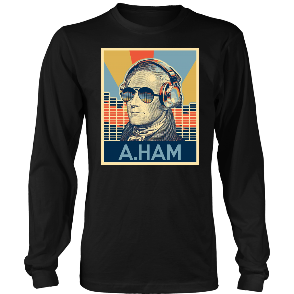 Hamilton A Ham Musical Equalizer Sunglasses and Headphone shirt
