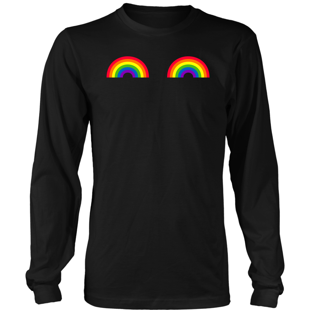 LGBT Pride Gay Les Pride Rainbow Boobs Shirt