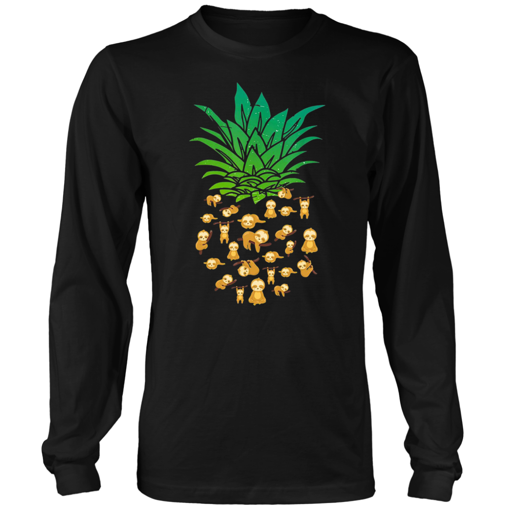 Funny Pineapple Sloth T Shirt