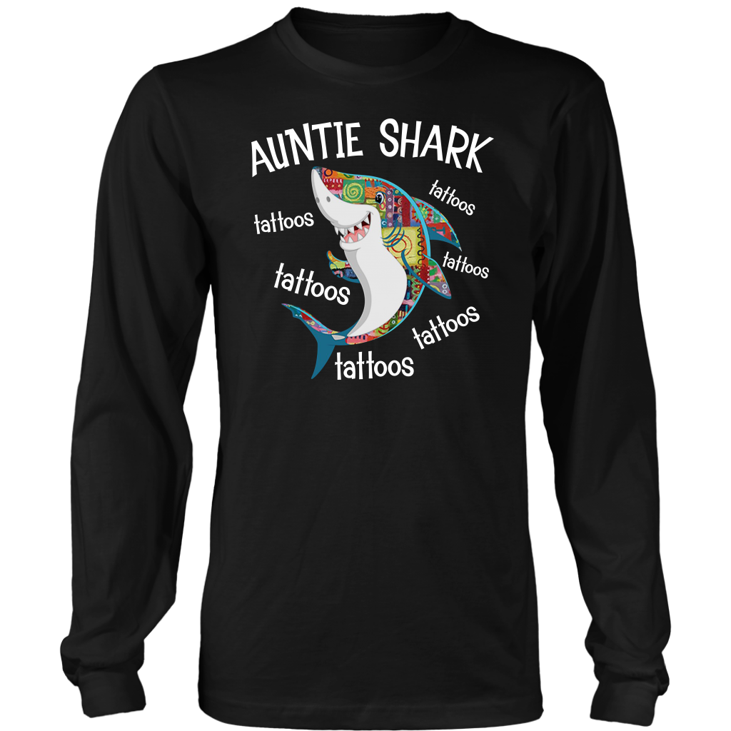 Funny Auntie Shark Tattoos shirt