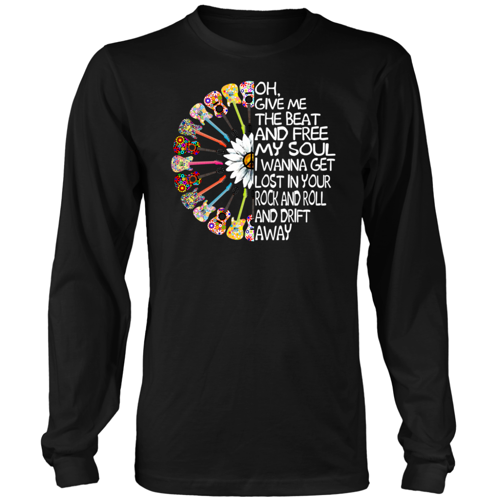 Hippie Sunflower Guitar Give Me The Beat Boys and free My Soul shirt