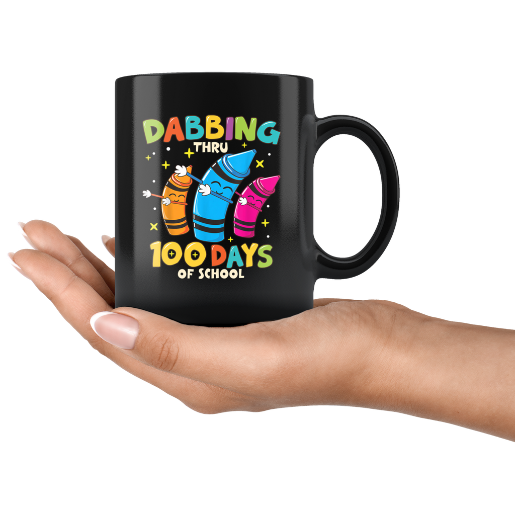 Funny Dabbing Crayons 100 Days Of School Mug Coffee