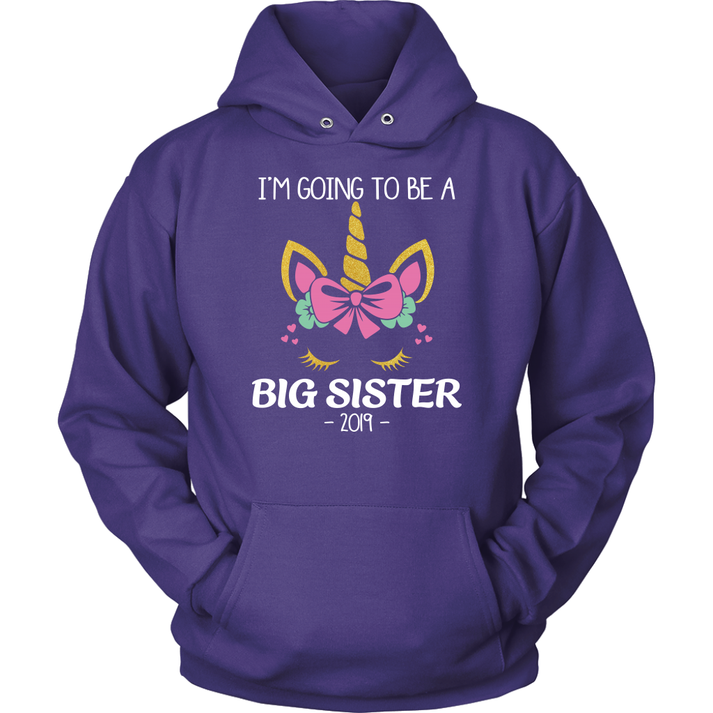 I'm Going To Be A Big Sister 2019 Unicorn Girl T Shirts