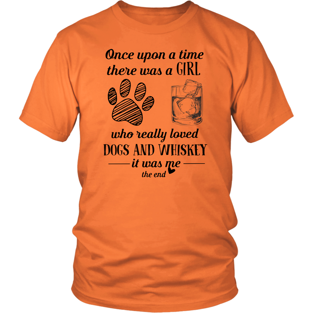 Once Upon a Time There Was a Girl Who Really Loved Dogs and Whiskey shirt