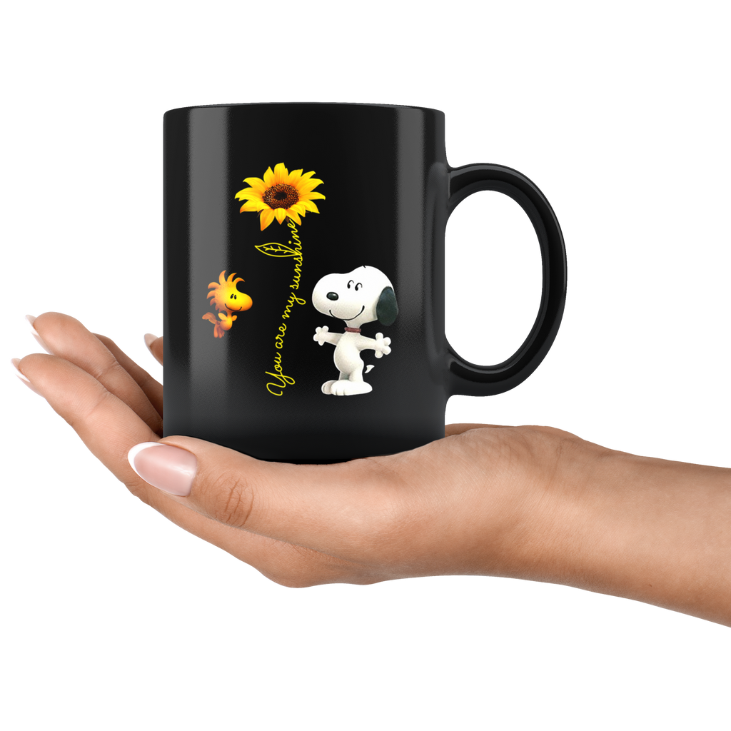 Sunflower Snoopy You Are My Sunshine mugs