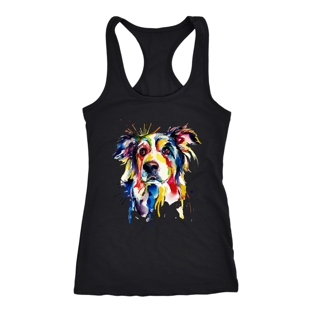 Splash Art Border Collie T Shirt Border Collie Owners Gift