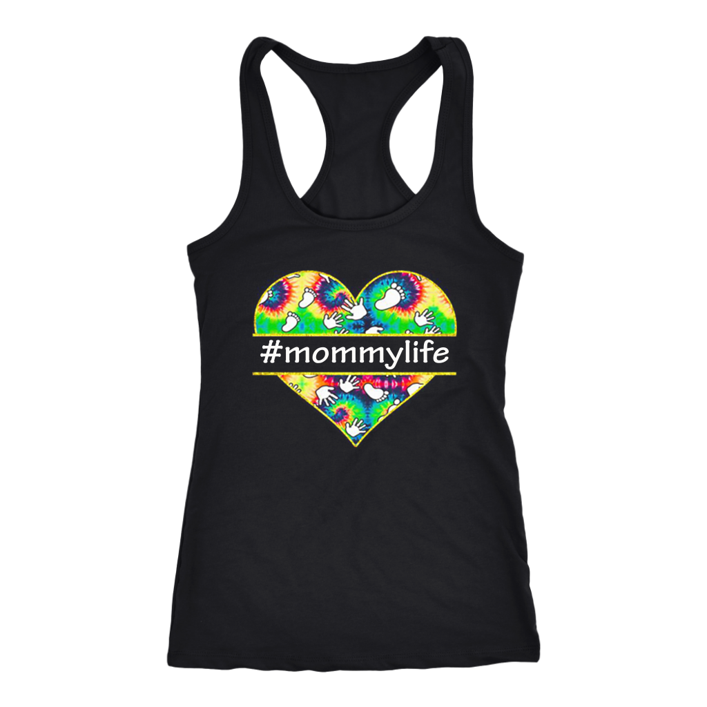 Colorful Heart Mommy Life shirt #mommylife