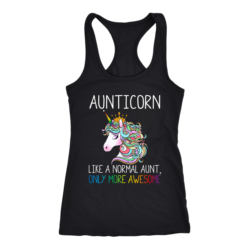 Aunticorn Like a Nomarl Aunt Only More Awesome Rainbow shirt