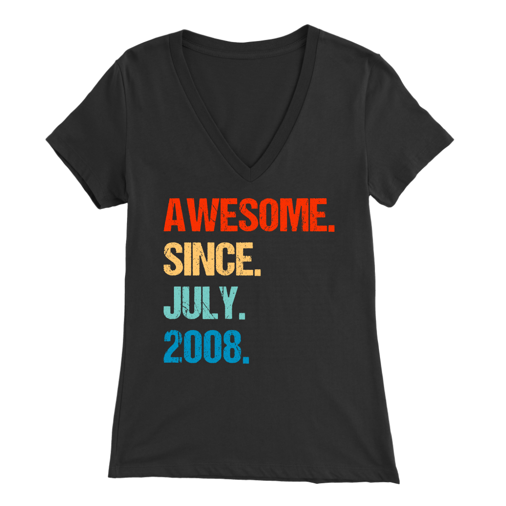 Awesome Since July 2008 11th Birthday Gift 11 Years Old Shirt