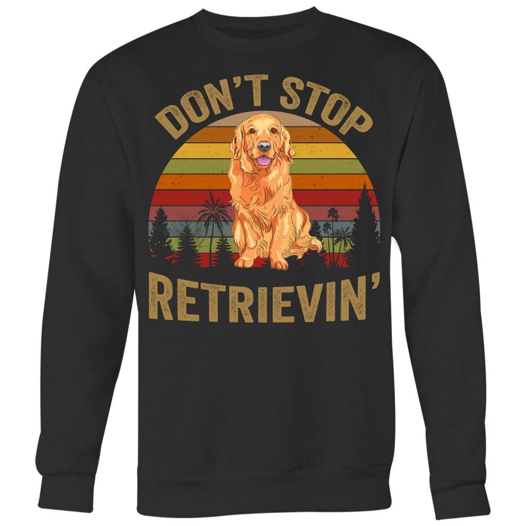 Retro Vintage Don't Stop Retrievin' Golden Retriever Tshirt