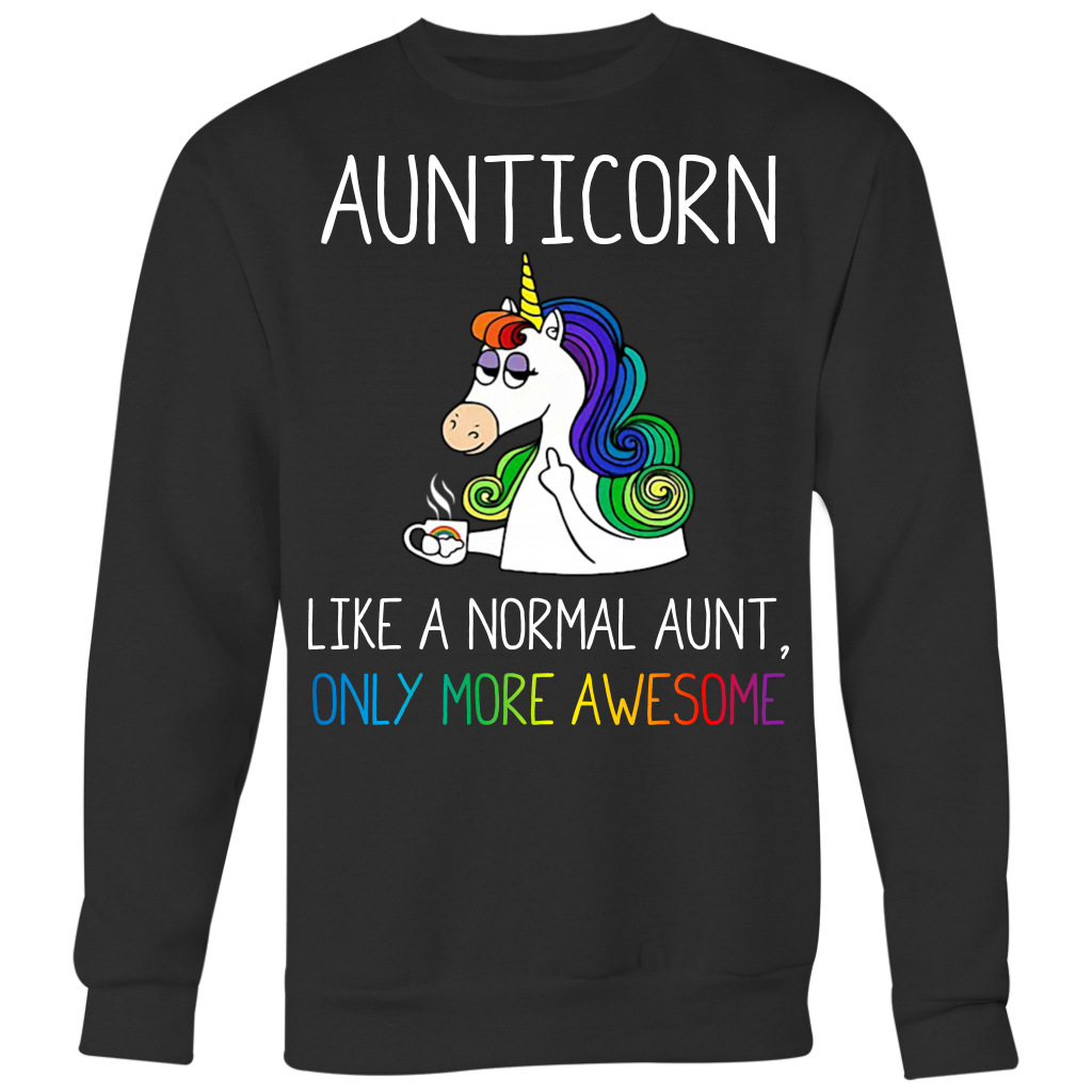 Aunticorn Like a Nomarl Aunt Only More Awesome T Shirt