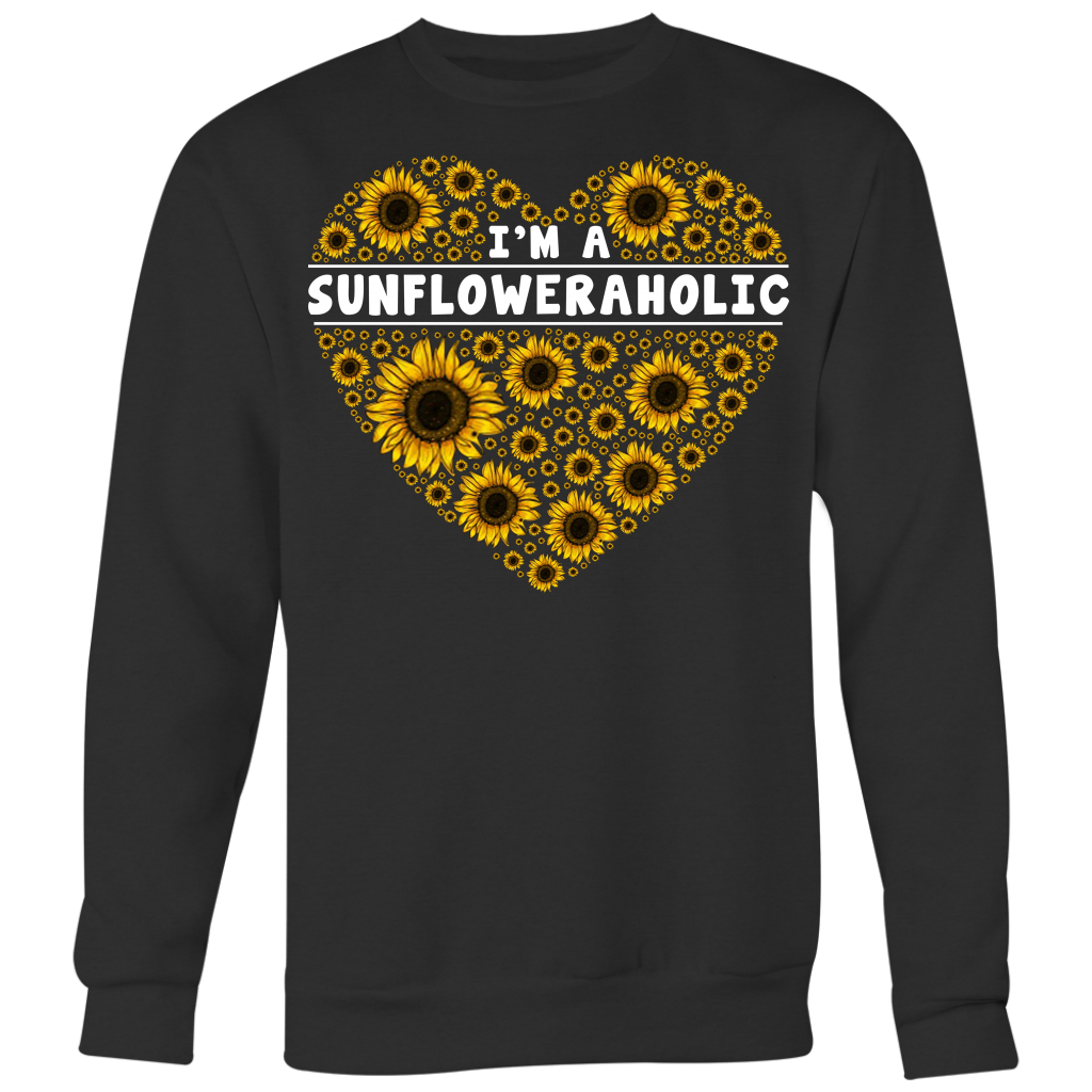 I'm A Sunfloweraholic Sunflowers Heart shirt