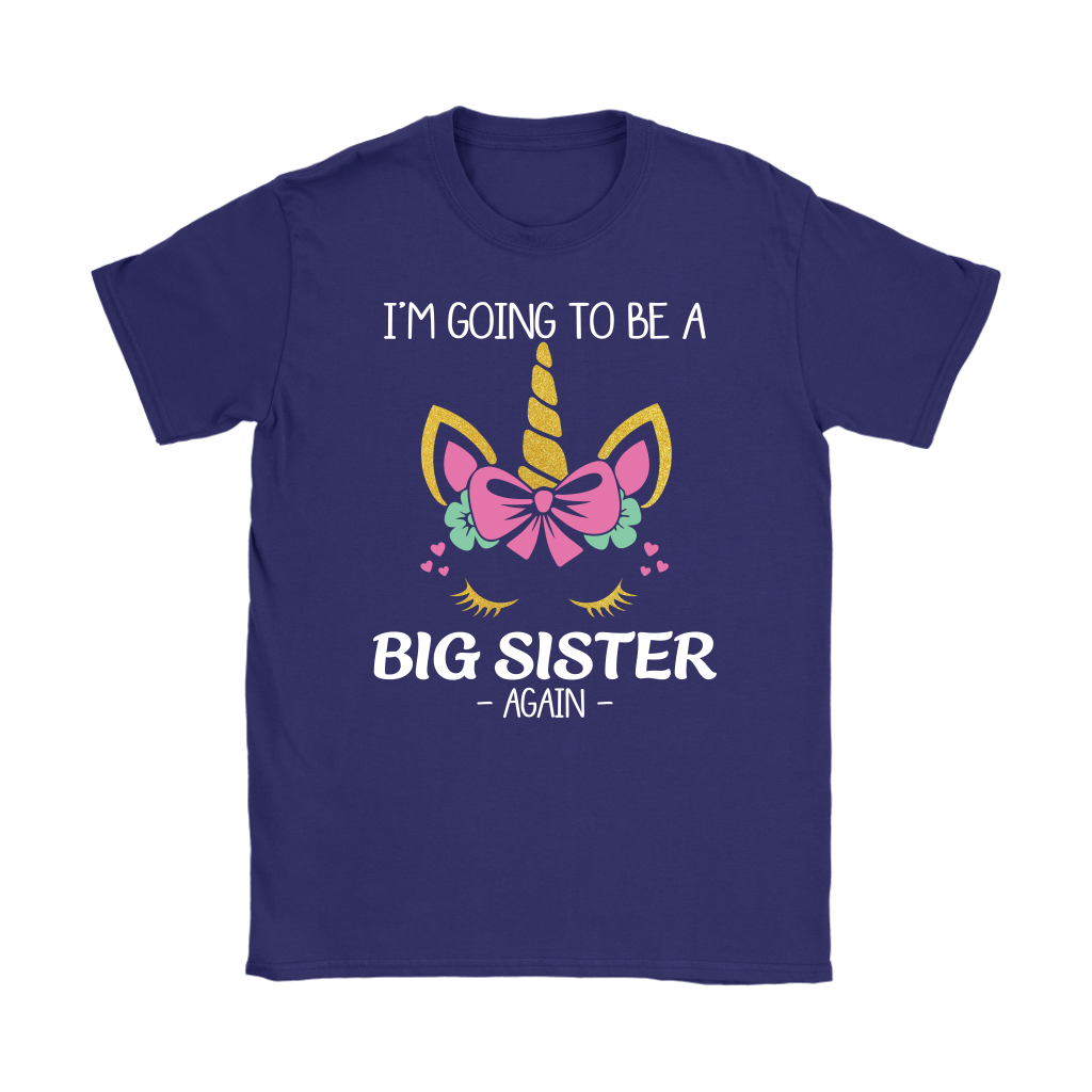 I'm Going To Be A Big Sister Again Unicorn Girl Tshirt
