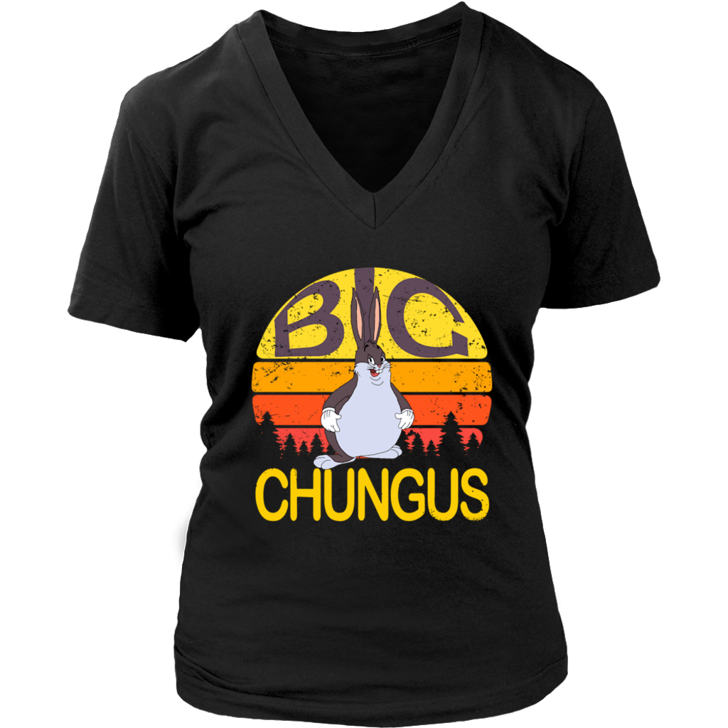 Retro Sunset Vintage Funny Big Chungus Meme shirt