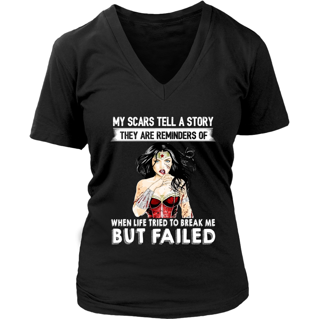 My Scars Tell a Story shirts Funny Wonder-Woman