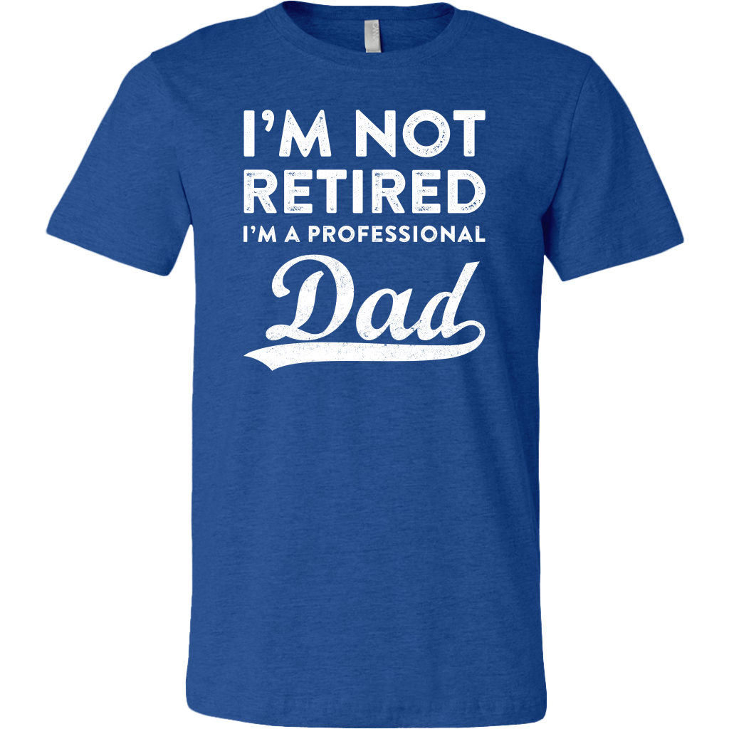 I'm Not Retired I'm A Professional Dad shirts