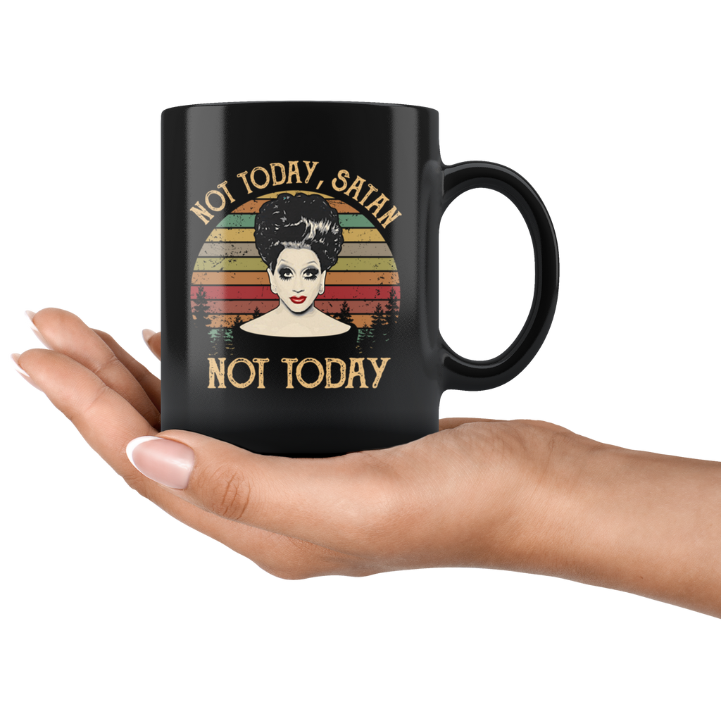 Retro Vintage Bianca Del Rio Not Today Satan Not Today Mug Coffee