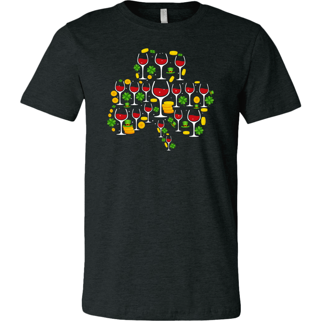 St Patrick's Day Shamrocks Clover Wine Glasses shirt