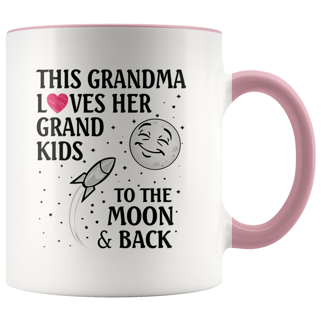 This Grandma Loves Her Grandkids To The Moon and Back mug