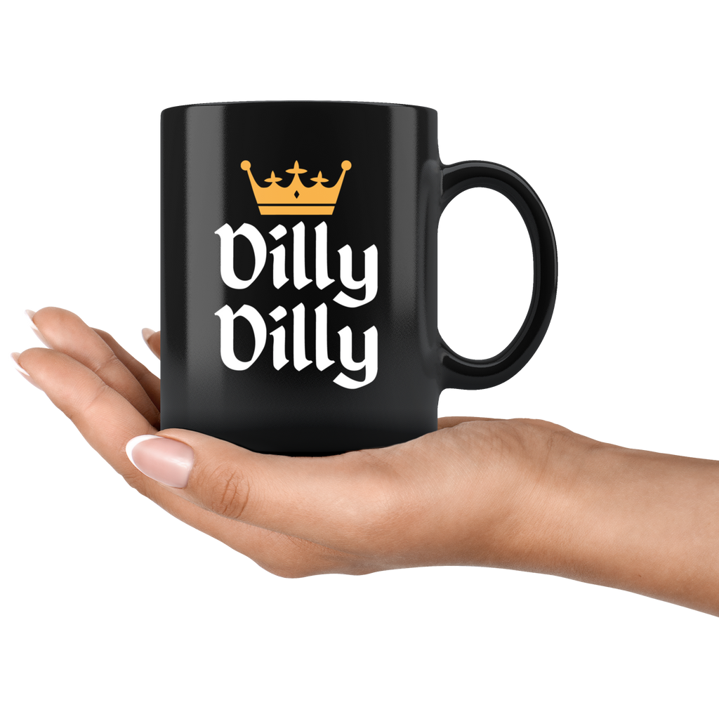 St Patricks Day Dilly Dilly Gold Crown Mug