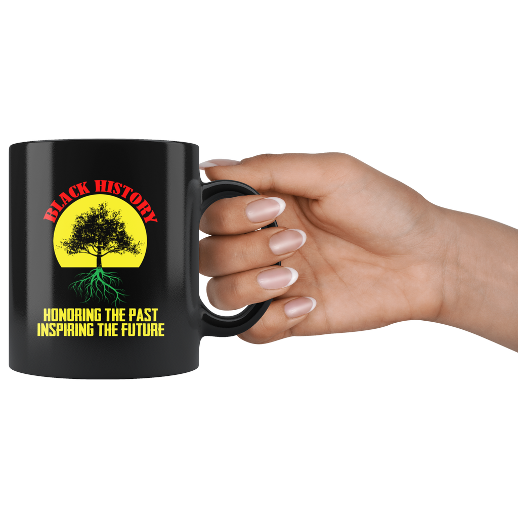 Honoring Past Inspiring Future Black History Month Mug Coffee