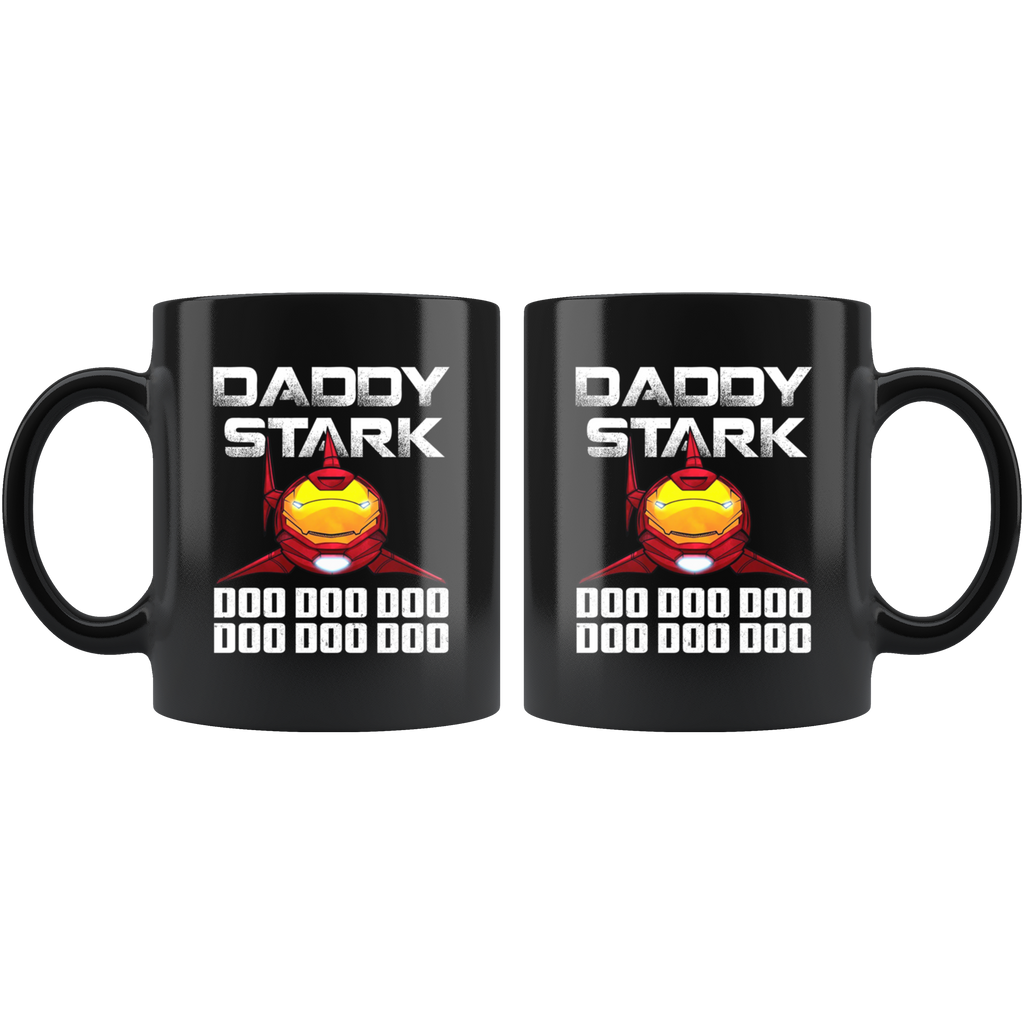 Iron Shark Daddy Stark Doo Doo Doo Funny Mugs