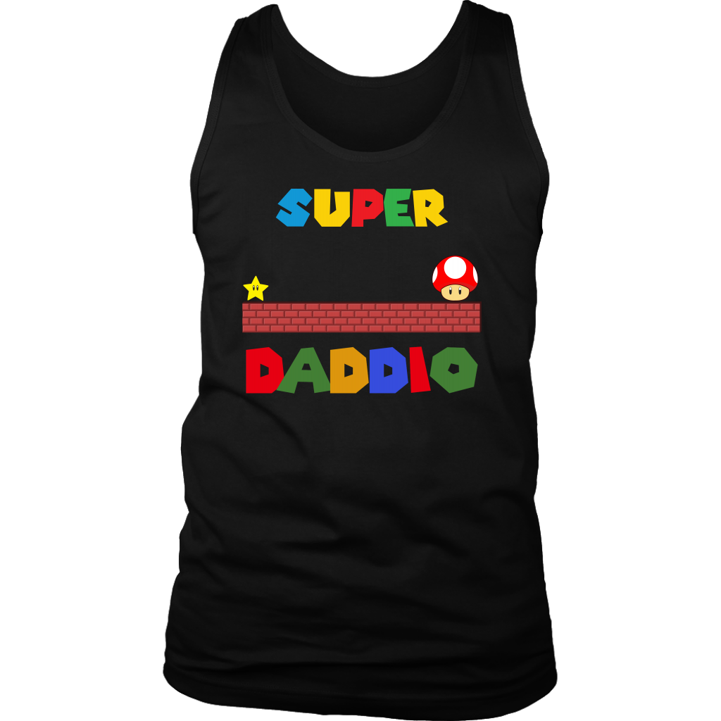 Super Daddio T Shirt Funny Dad Daddy Fathers Gift