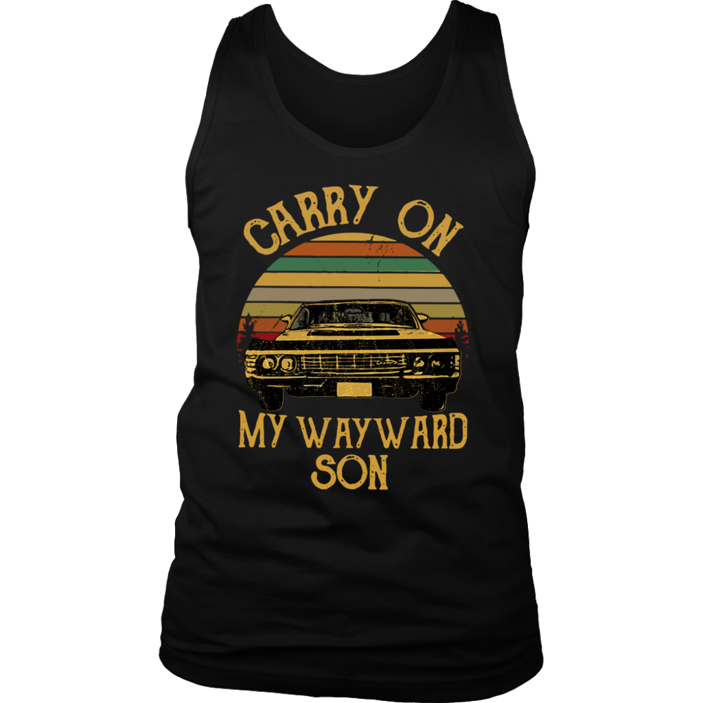 Vintage Retro Car Carry on My Wayward Son shirt