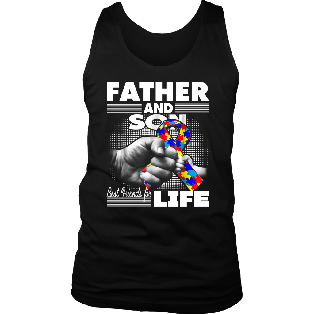Autism Awareness Father and Son Best Friend for Life shirt