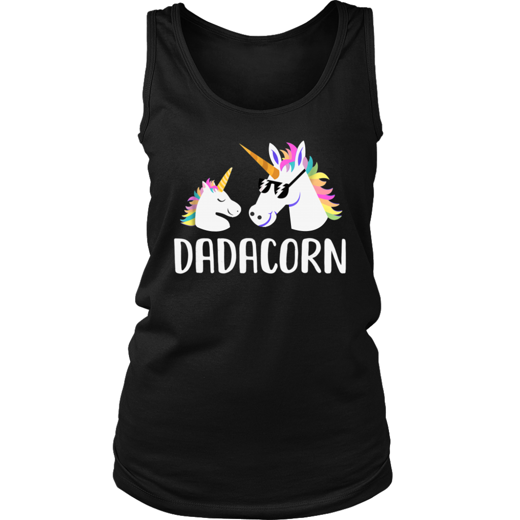 Dadacorn Unicorn Dad And Baby Fathers Gift T-Shirt