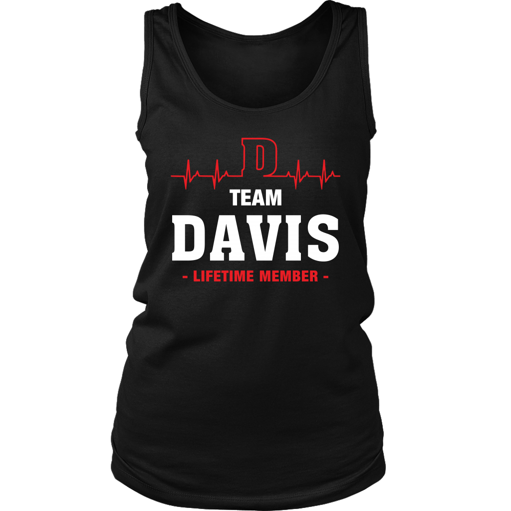 Team Davis Lifetime Member shirt Heartbeat