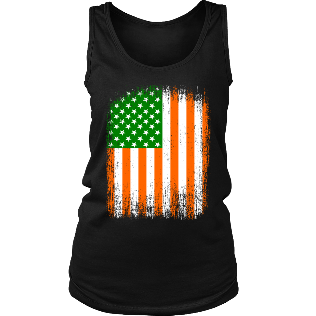 Vintage American Flag Irish Ireland St Patricks Day shirt
