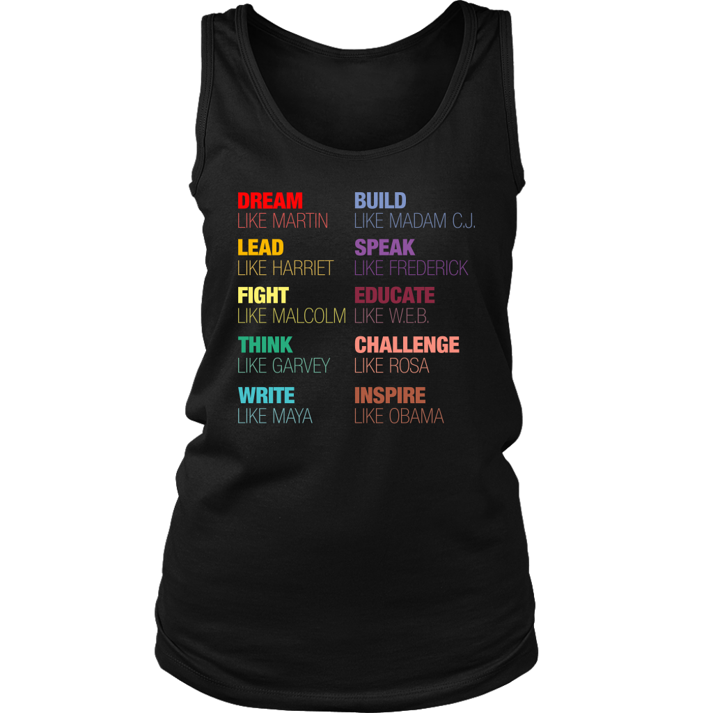 Inspirational Black History Leaders T Shirt