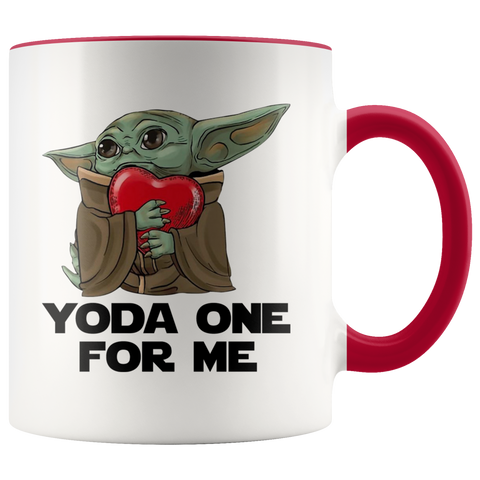 Valentines Gift Yoda Hug Heart Yoda One For Me Coffee Mug