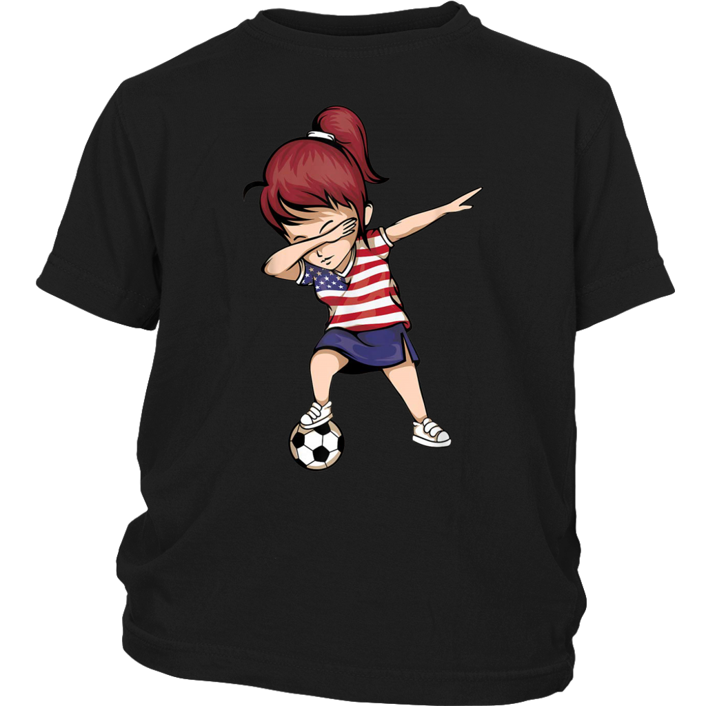 Dabbing Soccer Girl United States Jersey USA Football shirts