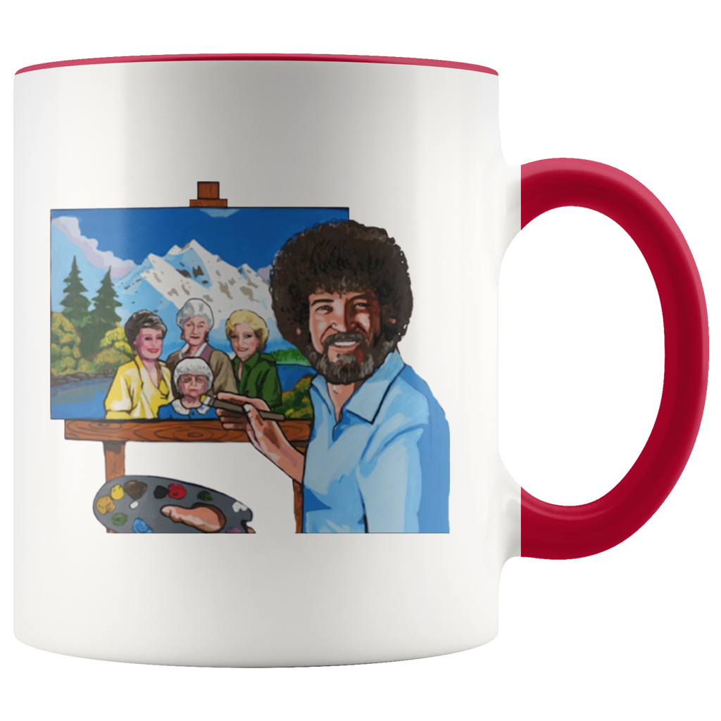 Bob Ross Painting The Golden Girls Mug Coffee