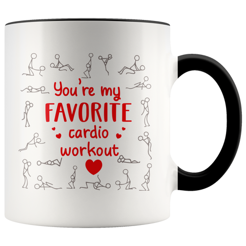 You're My Favorite Cardio Workout Coffee Mug Funny Valentines Day Gift Idea