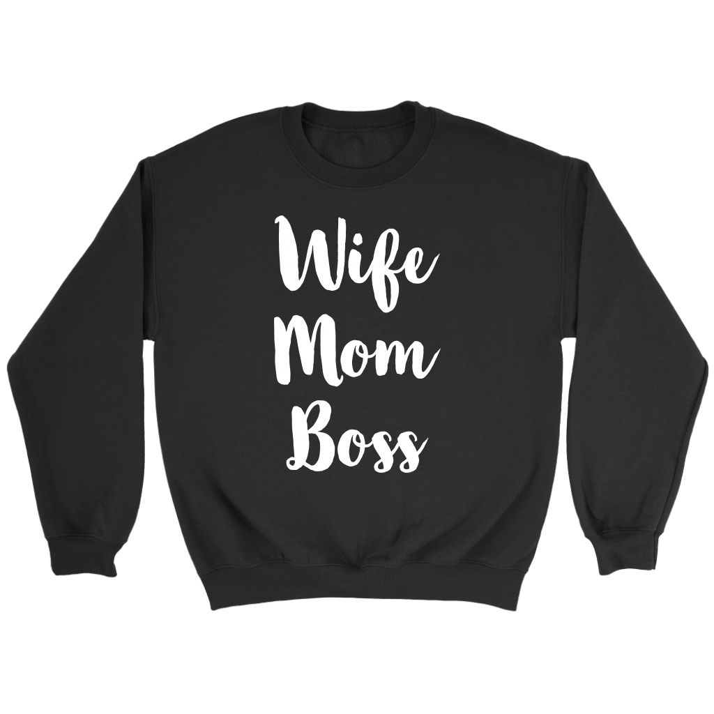 Wife Mom Boss T Shirt Funny