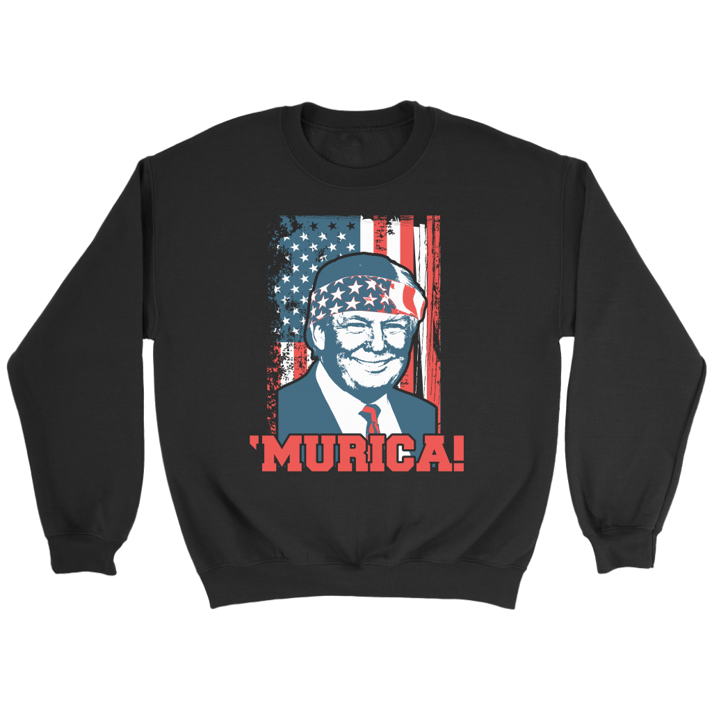 Trump Murica 4th of July Patriotic American Flag T Shirt